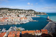 Leinwanddruck Bild - Port Lympia on French Riviera in City of Nice in France
