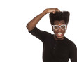confused young handsome afro american hipster guy  isolated on white background scratching his head. people ideas concept