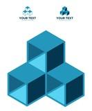 three box geometric icon - 211595936