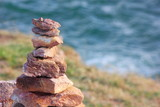 Stone sort at the sea or beach.Successful concept ,have a good support, zen stone. - 211599741