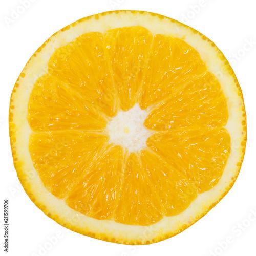 Pomarańczowa owoc rżnięta połówka ciie odosobnionego