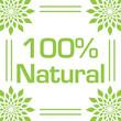Natural Hundred Percent Green Leaves Circular Frame