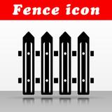black fence vector icon design - 211604335