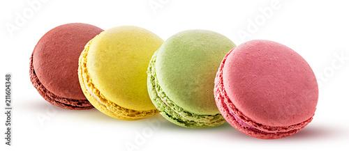 Fotobehang Macarons Sweet colorful macarons