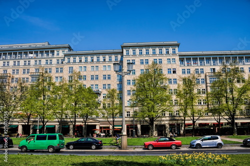 Leinwanddruck Bild Berlin, Stalinbauten