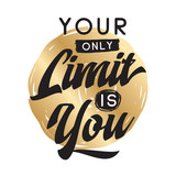 Typography for t shirt or sweatshirt printing and embroidery. Print for tee. Inspirational quote, motivation. - 211607916