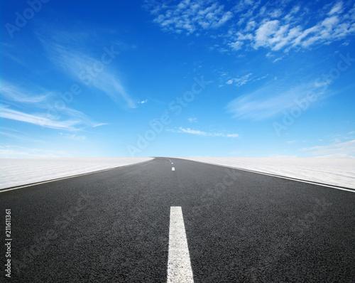 Asphalt car road
