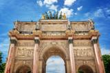Arc de Triomphe du Carrousel in Paris France - 211614563