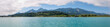 Panoramic view of Faaker See with Karawanks Alps, Austria