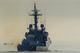 CORVETTE - The Polish warship is sailing into the sea