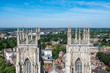 View of Towers of York Minster Uk