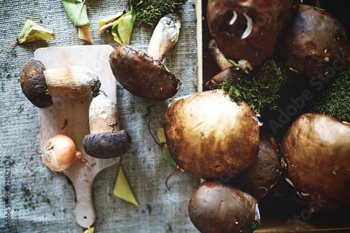 Mushrooms on the table