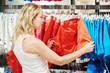season sale, woman shopping apparel clothes