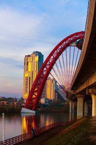 Russia, Moscow, bridge Jivopisniy,