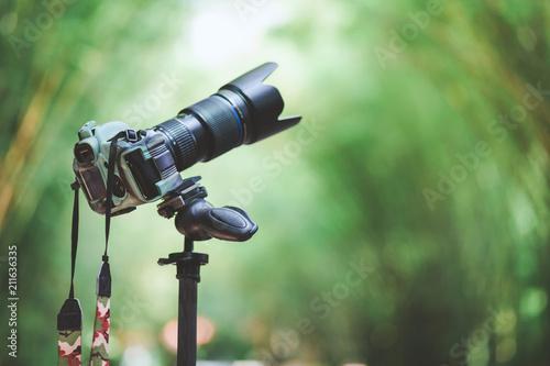 Fototapeta Dslr camera camouflage style