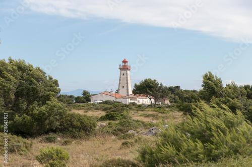 Fotobehang Vuurtoren Le phare de Leucate
