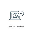Online Training line icon. Simple element illustration