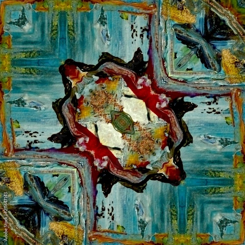 Oil painting style big size abstract artwork. Creative graphic background. Artistic decor for printing art production. Pattern for creation any design production. Color mixed fantasy texture.