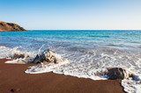 Red beach on Santorini island, Greece. - 211662106