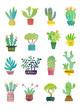 cactus watercolor poster - 211664579