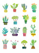 Leinwanddruck Bild - cactus watercolor poster