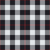 Black and white tartan vector seamless pattern background - 211666510