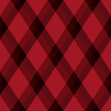 Diagonal black and red tartan vector seamless pattern background 2 - 211666736