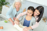 three generation of pastry making - 211668953