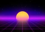 80's style retro background - 211670159