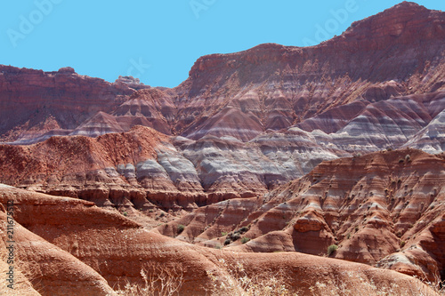 Fotobehang Zalm Scenic colorful cliffs of Paria used as setting for western movies, Utah, USA