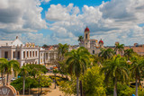 CIENFUEGOS, CUBA: The view from the top of the Cathedral of Immaculate Conception, located on Marti square in the center of the Cuban city. - 211678760