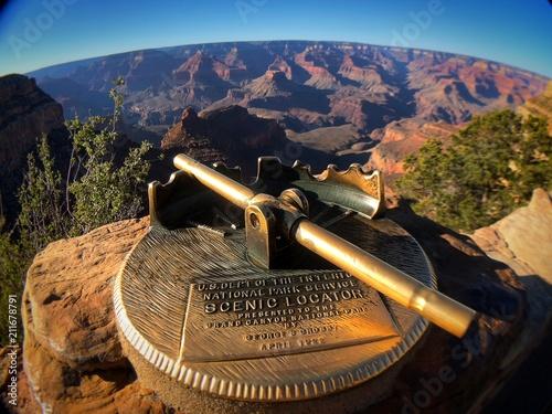 Fotobehang Nachtblauw Art Deco viewfinder Grand Canyon National Park