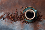 Coffee cup and roasted beans - 211680572