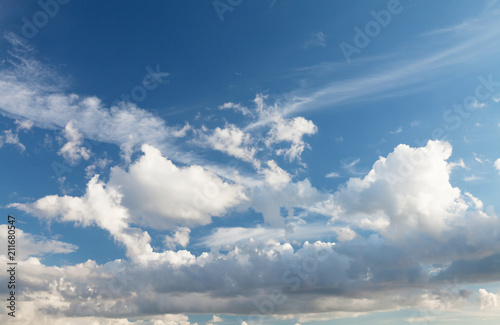 Blue sky and clouds - 211680547