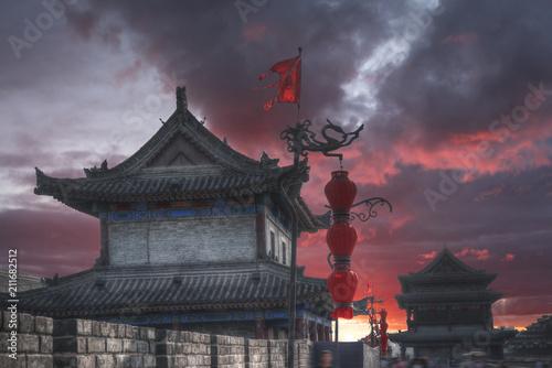 Fototapeta Xian city wall.