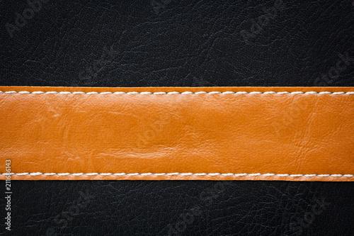 Fototapeta dark leather background with bright horizontal stripe