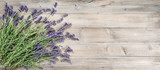 Lavender flowers rustic wooden background Vintage still life - 211697165