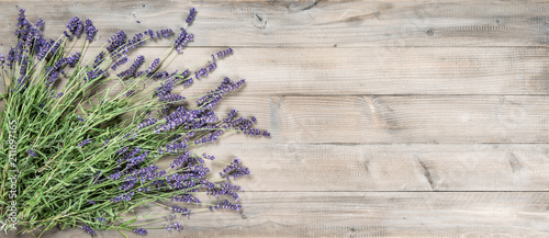 Plexiglas Lavendel Lavender flowers rustic wooden background Vintage still life