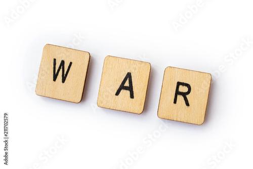 The word WAR