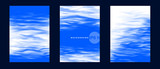 Vector banner set. Realistic water surface illustration for cards, templates, web. - 211704721