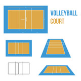Volleyball Court Vector Illustration