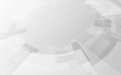 Abstract grey and white tech geometric corporate design background and wheel rim Vector illustration © chanut