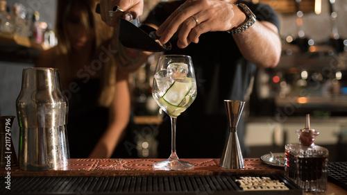 bartender and details - 211724796