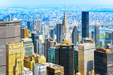 View of Manhattan from the skyscraper's observation deck. New York. - 211728576