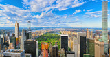 View of Central Park in Manhattan from the skyscraper's observation deck. New York. - 211728948