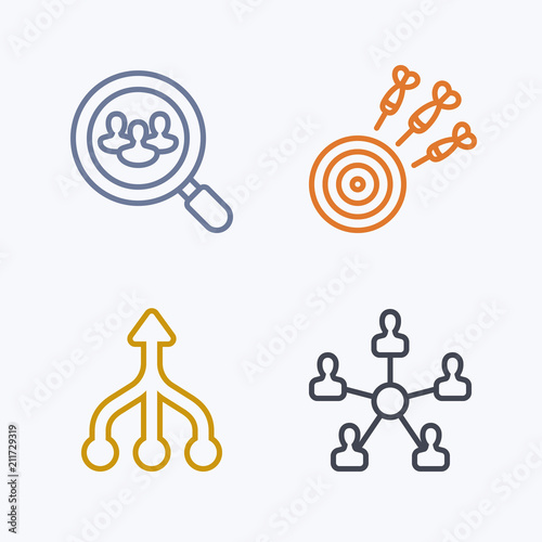 Focussed Efforts - Pastel Stroke Icons. A set of 4 professional, pixel-aligned icons .
