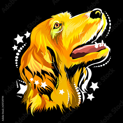 Aluminium Pop Art Vector image of a dog in the style of pop art
