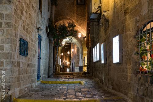 Fotobehang Smalle straatjes Vieille ville de JAffa