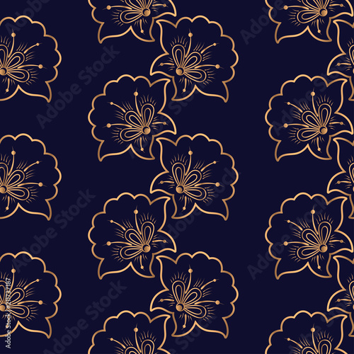 Luxury background vector. Floral royal pattern seamless. Festive design for yoga wallpaper, beauty spa salon ornament, indian wedding party, birthday wrapping paper, bridal, holiday birthday gift.