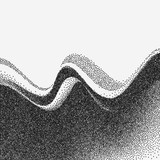 Abstract wave. Vector Illustration for banner, flyer, book cover, poster. stipple halftone retro background
